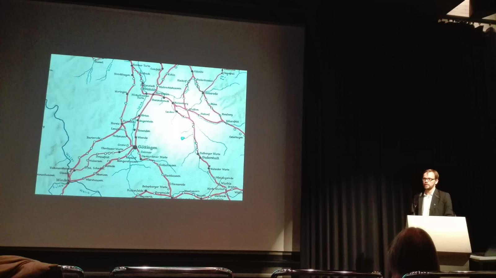 Niels presenting at Hansischer Geschichtsverein